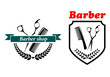 Barber Shop emblems or labels