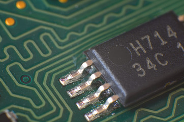 Macro detail of electronic chip