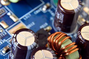 Macro detail of electronic capacitators