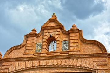 Almadenejos, detalle de la Puerta de Almadén, Ciudad Real