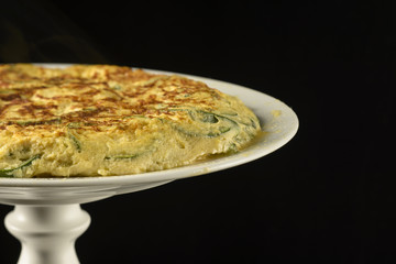 Spanish omelette with zucchini