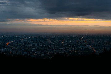Doi Suthep scenic point at Chiang mai in Thailand