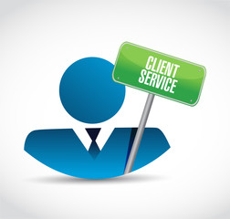 client service icon and sign illustration