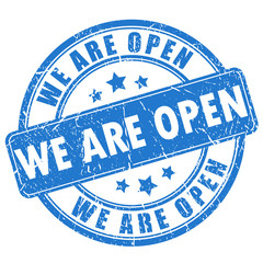 We are open stamp