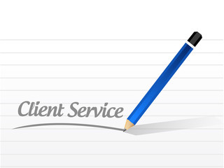 client service message illustration