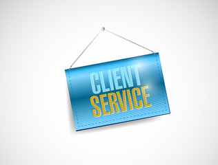 client service hanging banner illustration