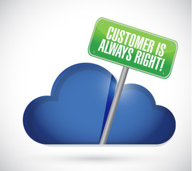 customer is always right cloud illustration