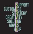 service word selection illustration design