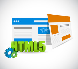 html5 web templates illustration design