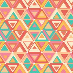 Cute seamless retro pattern of triangles.