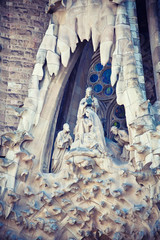Sculpture in Sagrada Familia, Barcelona