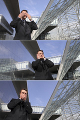 business man see no evil, hear no evil, speak no evil, urban