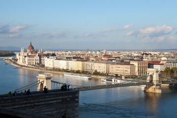 Budapest Chain Bridge and Parliament Building