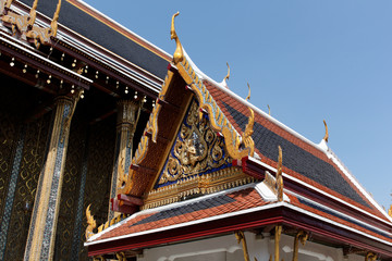 thai temple roof palace