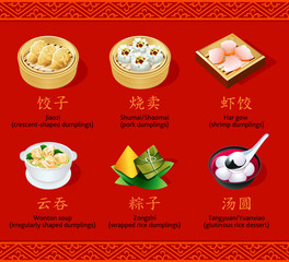 Chinese dumplings, set I