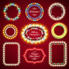 Christmas Lights Frames with a Copy Space Set1