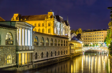 Night view of Ljubljana - Slovenia