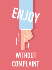 Word ENJOY vector illustration