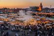 Leinwandbild Motiv Blick auf Djemaa el Fna in Marrakesch