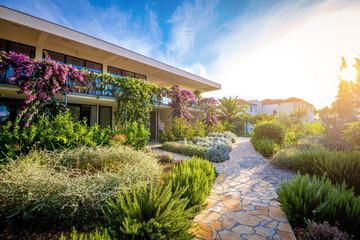 Hotel garden and terrace