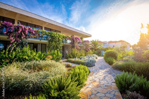 Fotobehang Tuin Hotel garden and terrace