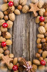 Weihnachten, Nüsse, Walnüsse