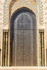 Eingang Portal Moschee Hassan II in Casablanca