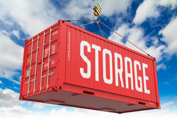 Storage - Red Hanging Cargo Container.