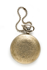 Pocket vintage watch with chain