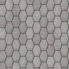 Decorative Gray Pavement Slabs.