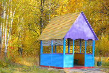 Autumnal summerhouse