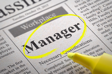 Manager Jobs in Newspaper.
