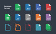 Set of Document File Formats icons. - 72500685