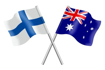 Flags: Finland and Australia
