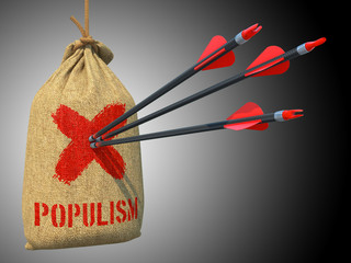 Populism - Arrows Hit in Red Target.