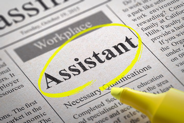 Assistant Jobs in Newspaper.