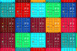 canvas print picture - Lots of Colorful Cargo Containers.