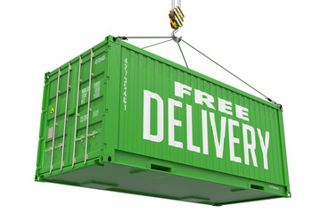 Free Delivery - Green Hanging Cargo Container.