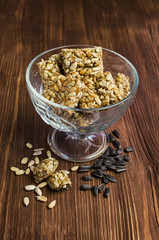 Honey bars with sunflower seeds