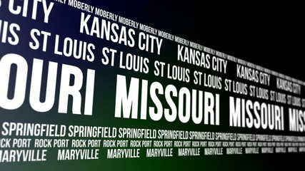 Missouri State and Major Cities Scrolling Banner