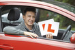 Smiling Teenage Boy In Car Passing Driving Exam - 72502601