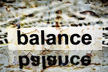 Balance grunge concept