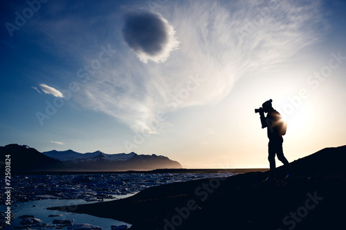 Leinwanddruck Bild Photographer make picture, Iceland