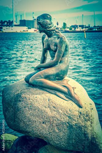 The Little Mermaid in Copenhagen, Denmark Poster