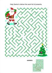 Maze game for kids - Santa deliver the presents