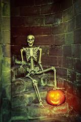 Skeleton On The Steps