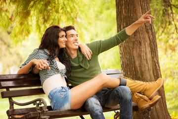 Romance On A Park Bench