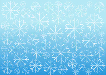 christmas wallpaper with snowflakes of words