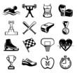 Vector sport black icon set