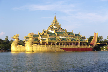 The Royal Floating Barge, Karaweik Lake Yangon, Burma